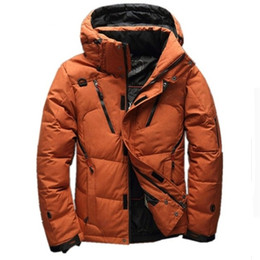 c95a19a055 Winter White Duck Thick Downs Jacket Men Top Quality Casual Hooded Coat  Snow Parka Male Warm Downs Jacket Men Waterproof Outwear