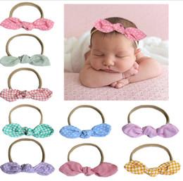 6d2608fd792 Newborn Baby Headbands Bunny Ear Elastic Headband Children Hair Accessories  Kids Cute Hairbands for Girls Nylon Bow Headwear Headdress