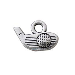 2020 golf antico Fascini antichi da golf in lega di colore argento antico in lega Sport Charms Vintage da golf 50 pezzi AAC787 golf antico economici