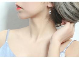 Petit orignal Fairy Spirit main design bleu Petunia S925 Argent sterling asymétrique studs boucles d'oreilles et sages ? partir de fabricateur