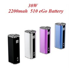 Wholesale Multi Usb Cables - E-cigarette Mini 30W Battery Mod Kit 30 Watt Battery with 510 Connector and Usb Cable Simple Packing