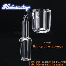 4mm Flat Top Quartz Banger Bowl Dia 21,5 mm für 14mm 19mm Joint Bowl Dia 15.5mm für 10mm Joint 643 von Fabrikanten