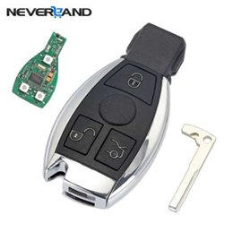 Wholesale replacement mercedes keys - 3 Buttons Remote Car Key Shell Key Replacement For Mercedes Benz year 2000+ NEC&BGA Control 433MHz