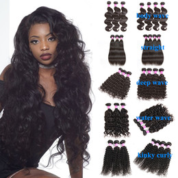 Extension de cheveux humains indiens brésiliens 4 faisceaux vague de corps droite vague profonde Kinky bouclés vague naturelle faisceaux de cheveux humains tisse ? partir de fabricateur
