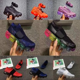 Wholesale summer infant sale - Infant Vapormaxes 2018 Strip shoes Sneaker Kids Run sports shoes outdoor girls and boys High quality Hot Sale shoes Trainer size 28-35