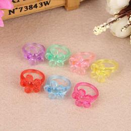 Bague pour enfants créatifs en gros couleur bonbon plastique / résine bague mixte lot mode fille fille anneau ? partir de fabricateur