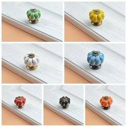 Wholesale ceramic cabinet knobs - Home Ceramic Door Knobs Modern Simple Cabinet Drawer Wardrobe Cupboard Kitchen Pull Handle 7 Colors DDA545