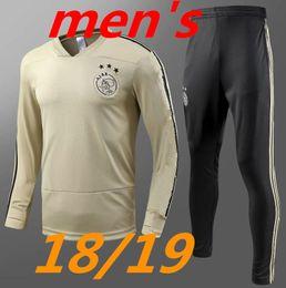Wholesale Short Jackets Men - top thai quality 2018 2019 Ajax FC Soccer Jerseys training suit 18 19 chandal KLAASSEN NOURI DOLBERG YOUNES Jerseys tracksuit jackets