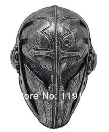 Wholesale Airsoft Mesh - Paintball Airsoft Wire Mesh Templar Fabric Plastic Mask (black