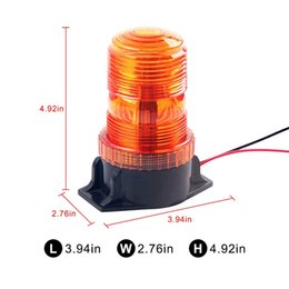 Wholesale Amber Flashing Beacon - 6W High Dome Beacon LED 6-Watt Flashing Rotating Beacon High-Profile Amber Strobe Warning Lamp Emergency Light for bus