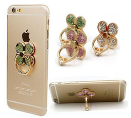 Wholesale Unique Phone Stands - Ring Phone Holder Unique Mix Style Cell Phone Holder Fashion for iphone x 8 7 6s Samsung S8 cellphone stand with retail package