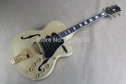Wholesale Jazz Pickups - Chinese Factory Custom 2015 NEW Semi Hollow F hole Ebony Fingerboard Jazz L5 Electric Guitar 3 Pickups 815