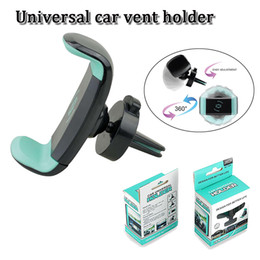Wholesale Universal Adjustable - 360 degree rotation car vent holder adjustable universale nimi air vent mount stand fit for 3.5 inch to 6 inch smart cellphone GPS PSP