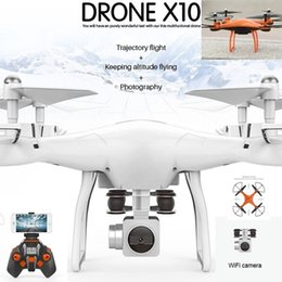 Wholesale Photography Mobile - Aerial Photography RC Drone Wifi with HD Camera 4-Axis Gyro One Key Return Drone Mobile Phone Control Toy