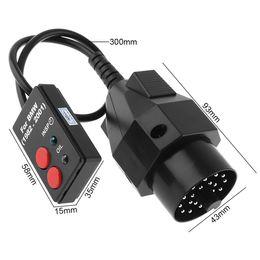 Herramienta de diagnóstico de abs online-20 pines 12V ABS Sockets Herramienta de diagnóstico de restablecimiento del servicio de aceite con luz indicadora para 1982-2001 BMW CDT_00Y