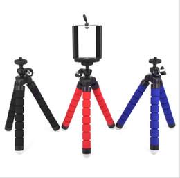 Wholesale Gopro Camera Brackets - Flexible Tripod Holder For Cell Phone Car Camera Gopro Universal Mini Octopus Sponge Stand Bracket Selfie Monopod Mount With Clip