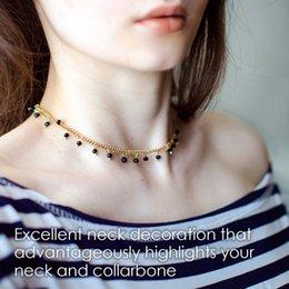 nova moda colar de ouro Desconto eManco Bijuterias Atacado Charme Chains Colar Gargantilha Contas de Cristal Dourado Cor 2018 New Arrivals Presentes para As Mulheres