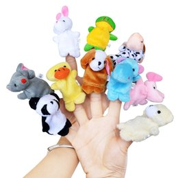 Развивающие игрушки для младенцев онлайн-10pcs/lot Plush Animals Finger Set Kid Child Baby Toy Learning Education Pretend Daily Play Story Telling Toys For Children