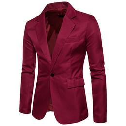 hombres contrastan trajes de solapas de color Rebajas 2017 Nueva chaqueta de traje de Los Hombres Delgado Casual Hombres Blazer Algodón Delgado traje de Inglaterra Blaser Masculino Chaqueta Masculina Blazer Hombres