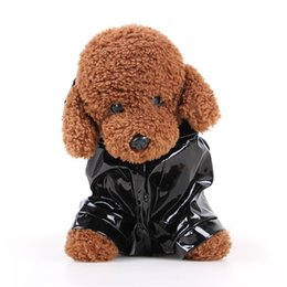 Wholesale Reflective Raincoats - Pet Dress Cat Dog Currency Raincoat Hooded Loose Coat Shelter Wind PU Reflective Four Seasons Available 11 5md y