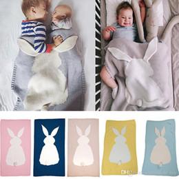 2019 bunny baby bettwäsche Baby Gestrickte Decken Häkeln Bett Sofa Decke Klimaanlage Häschen Decke Für kinder Kinder Neugeborene Erwachsene Geschenke 105 * 75 cm TY7-153 günstig bunny baby bettwäsche