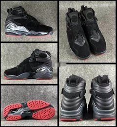 40b6f619df508a 2018 New 8 VIII Champion Black Cement Mens Basketball Shoes Wholesale Top  Quality 8s Athletic Sport Sneakers 305381-022 Size US 8-13