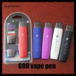 atomizador de bala Desconto G80 vape pen kit Dupla bala plana 300mAh com 1 ml núcleo de Algodão atomizador Vape caneta bateria mod VS suorin queda 0268084