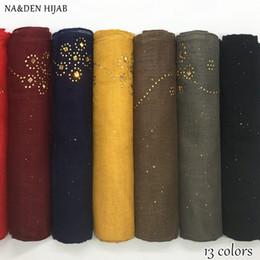 2019 sciarpa di scintillio scintillante NUOVO glitter strass hijab sciarpa shimmer pianura maxi hijab sciarpe musulmane di modo delle donne di modo musulmane sciarpe di marca sciarpe islamiche morbide sciarpa di scintillio scintillante economici