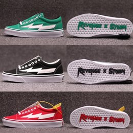 2cc107f44314 New Revenge x Storm Old Skool ii VOL.1 Green Black Red Yellow Canvas Shoes  For Men Women Kendall Jenner Ian Connor Skate Sneakers Size 4-11 kendall  jenner ...
