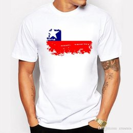 Hot Sale Fashion BLWHSA Chile National Flag man s T-shirt Cotton Short  White T-shirts Nostalgic But Fashion Style 13e2d410c