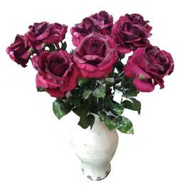 Shop silk artificial flowers stems uk silk artificial flowers silk artificial flowers stems uk silk autumn rose stem in dark red 30 mightylinksfo