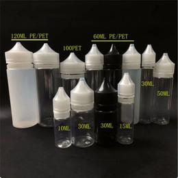 Wholesale plastic gorilla - Gorilla Bottles 10ml 15ml 30ml 50ml 60ml 100ml 120ml PE PET Unicorn Plastic Dropper Bottle with Tamper Proof Childproof Caps For E Liquid
