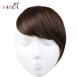 Argentina SARLA 1PC Clip de extensión de cabello sintético de fibra de alta temperatura recta en la extensión del cabello 23 colores disponibles Gradient Bangs B2 Suministro