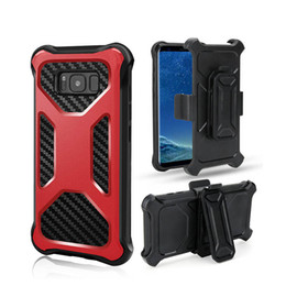 casos do defensor do telefone da pilha Desconto Casos de telefone celular robusto resistente armor defensor com clipe de cinto holster para iphone x 8 7 samsung s9 nota 8 lg