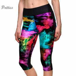 2019 aceite de impresión sexy Sexy Leggings Fitness Mujeres Leggings Espacio Pintura Al Óleo Impresión leggins Alta Cintura Pantalones de Yoga Femenino Pantalones de secado rápido rebajas aceite de impresión sexy