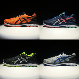 Wholesale new winter - 2018 Wholesale New Asics GEL-KAYANO 23 For Men Running Shoes Top Quality Athletics Discount Sneakers Sports Shoes Boots Size 40-45