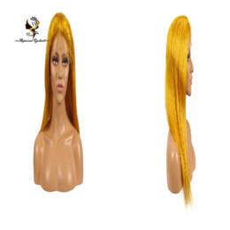 Consegna veloce Piuttosto colorato serico parrucca 100% capelli umani brasiliani parrucca anteriore in pizzo arancione cheap fast delivery wigs da parrucche veloci di consegna fornitori