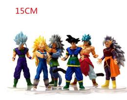 Wholesale Crazy Action Figures - 2018 wholesale Hot Dragon Ball Z GT Action Figures DBZ Anime Vegeta Kid Toy Crazy Party 10CM Cell Freeza Goku PVC Dragonball