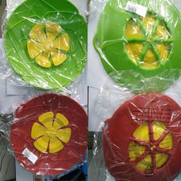 Vasi da fiori eco friendly online-Fiore Petal Boil Spill Stopper Coperchio in silicone Coperchio Pentola Pentola di cottura Coperchi Utensile Pentole Pentole Parti Accessori Bar da cucina HH7-851