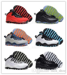 Wholesale Quality Ice Cream - 2017 jump men quality man air 10 Basketball shoes Steel Grey Powder Blue Chicago Seattle Ice Blue Bobcats Infrared Venom ovo on Sale