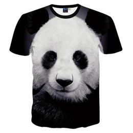 Wholesale Panda Tee Shirts - 3D T shirts New Arrivals Fashion Men Women 2018 3d T-shirt Digital Print Lovely Panda Animal Summer Tops Tees Tshirts