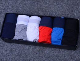 Wholesale underwear men boxer brands - Luxury Brand Mens Underwear Boxers Letter Sexy Soft Cotton Underpants Sports Casual Underwears For Men Boys 6 Color 4 Size Free Shipping 64