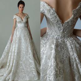 Wholesale Vestidos Novia Short - Luxury Designed Lace Wedding Dresses 2018 Newest A-line Off Shoulder Appliques Embroidery Bridal Gowns Custom Made Vestidos de novia