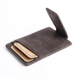 Deutschland Vintage Echt NUBUCK Leder 6 Kartenhalter Geldbörse Für Männer Frauen Grau Kaffee Farbe Mit Geldscheinklammer R022 Versorgung