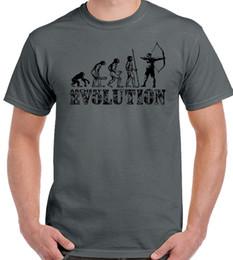 bogen ziele Rabatt Bogenschießen Evolution Mens Funny Bogenschützen T-Shirt Lange Bogenpfeile Target Equipment Style Round Style Tshirt