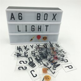 discount bulbs Coupons - Discount Sales A6 Led Cinema Lightbox DIY 90PCS Signs Home Table Decoration Lighting Power By AA Battery Or DC6V USB Cable