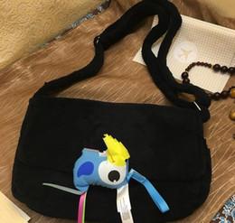 Saco de festa de veludo on-line-Ombro de veludo Moda preto saco de maquiagem logotipo famoso saco de festa de luxo flanela bolsa de ombro de boa qualidade bolsa de veludo