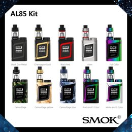 Wholesale Baby Display - SMOK AL85 Kit With 3ML TFV8 Baby Beast Tank 85W AL85 Mod OLED Display Screen Alien Baby Kit Adjustable Airflow System 100% Original