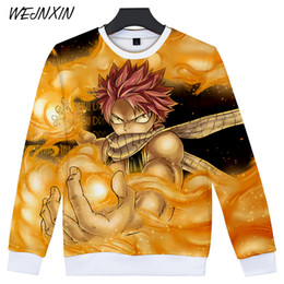 2019 chemise anime fairy tail WEJNXIN Nouveau Anime Design 3D Impression Sweat-shirt Fairy Tail Natsu Dragneel Costume Capless Hoodies Hip Hop Unisexe Moletom chemise anime fairy tail pas cher