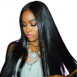 permanentes extensions de cheveux humains Promotion Silky Straight Virgin Extensions de Cheveux Humains Moins Cher Les Cheveux Humains Droite Brésiliens Tisse Des Extensions Double Trame Doyable Bloulable 100g / pc